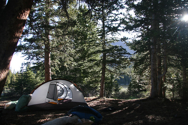 Dollar Lake backpacking campsite